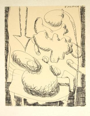 "Robert McLeod; Working drawing for ""Wet Dream above the Windy City""; 1972; 1981/2/2.3"