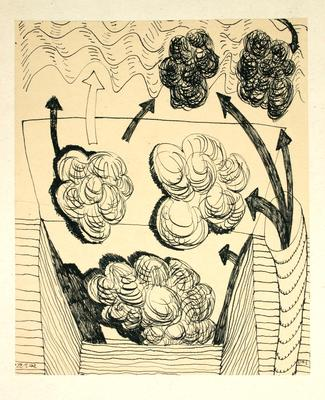 "Robert McLeod; Working drawing for ""Wet Dream above the Windy City""; 1972; 1981/2/2.4"