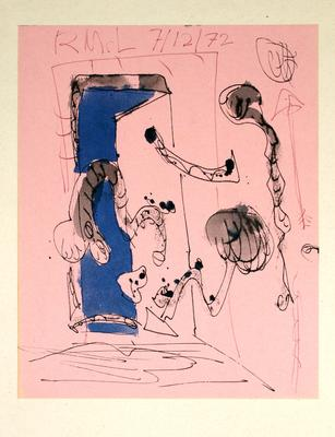 "Robert McLeod; Working drawing for ""Wet Dream above the Windy City""; 1972; 1981/2/2.7"