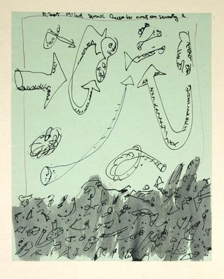 "Robert McLeod; Working drawing for ""Wet Dream above the Windy City""; 1972; 1981/2/2.9"