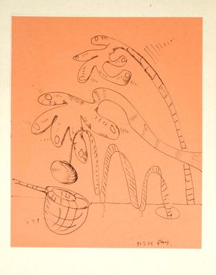 "Robert McLeod; Working drawing for ""Wet Dream above the Windy City""; 1972; 1981/2/2.10"