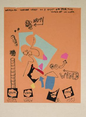 "Robert McLeod; Working drawing for ""Wet Dream above the Windy City""; Circa 1972; 1981/2/2.11"