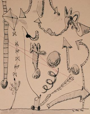 "Robert McLeod; Working drawing for ""Wet Dream above the Windy City""; 1972; 1981/2/2.14"