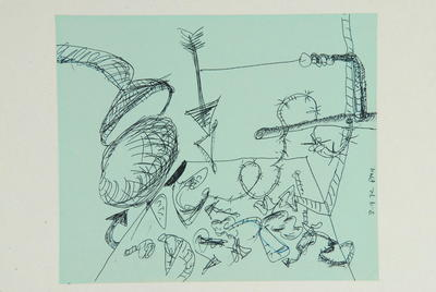 "Robert McLeod; Working drawing for ""Wet Dream above the Windy City""; 1972; 1981/2/2.16"