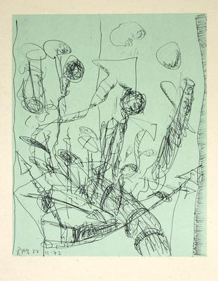 "Robert McLeod; Working drawing for ""Wet Dream above the Windy City""; 1972; 1981/2/2.18"