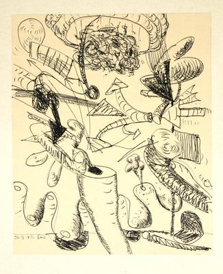 "Robert McLeod; Working drawing for ""Wet Dream above the Windy City""; 1972; 1981/2/2.19"