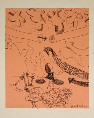 "Robert McLeod; Working drawing for ""Wet Dream above the Windy City""; 1972; 1981/2/2.20"