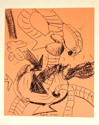 "Robert McLeod; Working drawing for ""Wet Dream above the Windy City""; 1972; 1981/2/2.22"