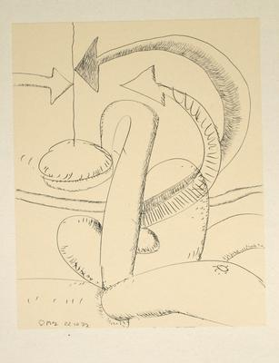 "Robert McLeod; Working drawing for ""Wet Dream above the Windy City""; 1972; 1981/2/2.23"