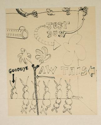 "Robert McLeod; Working drawing for ""Wet Dream above the Windy City""; 1972; 1981/2/2.24"