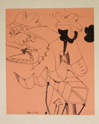 "Robert McLeod; Working drawing for ""Wet Dream above the Windy City""; 1972; 1981/2/2.26"