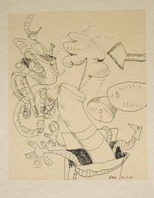 "Robert McLeod; Working drawing for ""Wet Dream above the Windy City""; 1972; 1981/2/2.28"