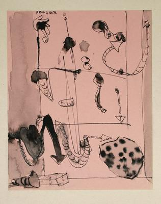 "Robert McLeod; Working drawing for ""Wet Dream above the Windy City""; 1972; 1981/2/2.31"