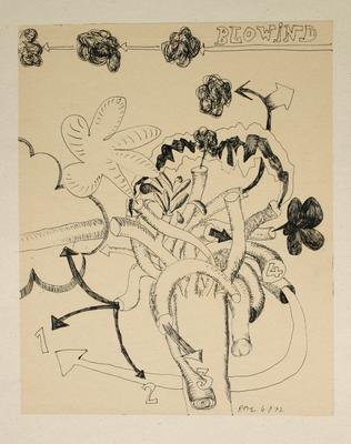 "Robert McLeod; Working drawing for ""Wet Dream above the Windy City""; 1972; 1981/2/2.32"