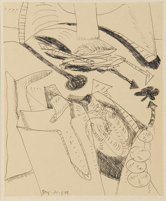 "Robert McLeod; Working drawing for ""Wet Dream above the Windy City""; 1972; 1981/2/2.17"