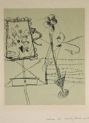 "Robert McLeod; Working drawing for ""Wet Dream above the Windy City""; Circa 1972; 1981/2/2.15"
