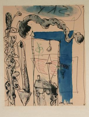 "Robert McLeod; Working drawing for ""Wet Dream above the Windy City""; 1972; 1981/2/2.6"