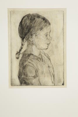 Young girl in profile