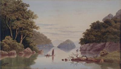 John Hoyte; View of Lake Rotorua; 1872-1876; 1957/1/2
