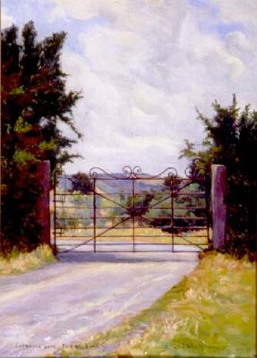 Violet Whiteman; Entrance Gate, Cherrybank; Circa 1940; 1957/2/1