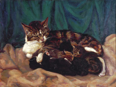 Repose (Cat & Kittens)