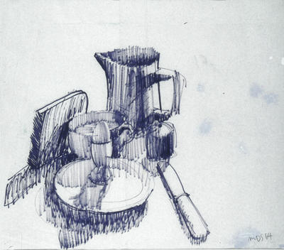 Michael Smither; Still Life Drawing 1964; 1964; 1981/15/1