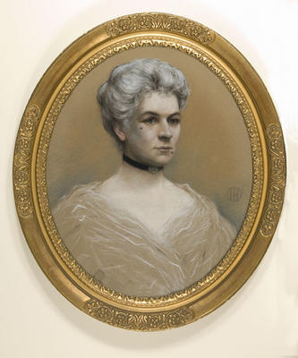 Unknown; Ian Hamilton; Portrait of Mrs Ellen A Neame; Early 20th Century; 1942/1/1