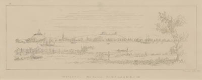 Wanganui, New Zealand, from the South Bank of the River. 1860