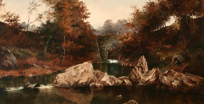 Landscape with Stream and Bridge