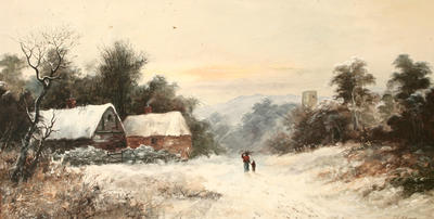 Cottages in the Snow