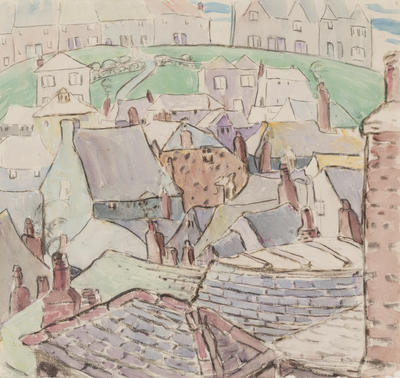 Roof Top and Buildings on Hill, St. Ives