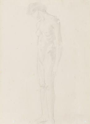 Standing Female Nude Study