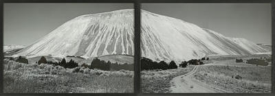 """Keystone"", largest waste dump hill at Kennecott, Utah [diptych]"