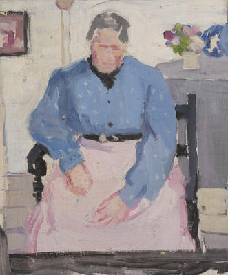 Untitled (seated woman)