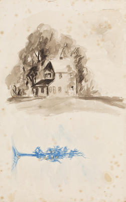 Untitled (house and tree)
