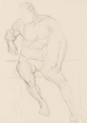 Untitled (Seated Male Nude)