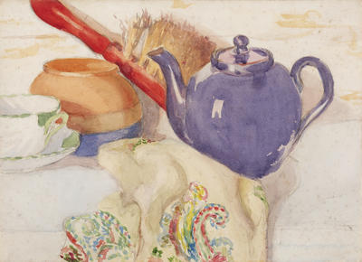 Untitled (Still Life with Purple Teapot)