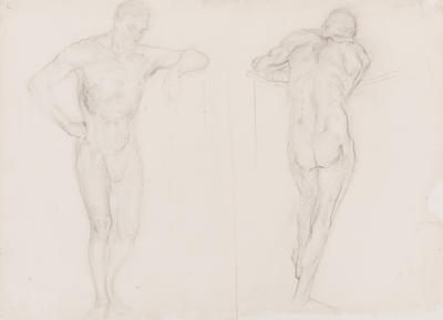 Untitled (Double Sided Nude Drawing)