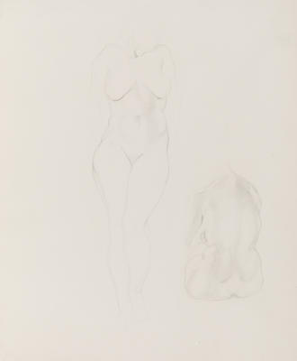 Untitled (Pencil Study of Female Nudes)