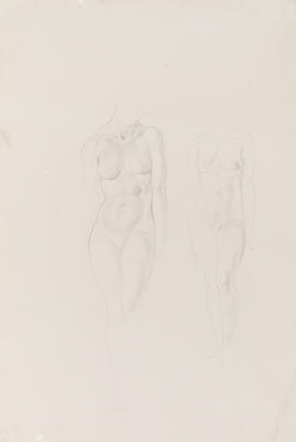 Untitled (Double Sided Drawing of Female Nude)