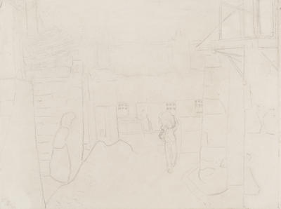 Untitled (Figures and Cottages)