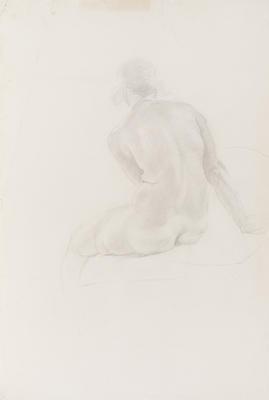 Untitled (Seated Female Nude)