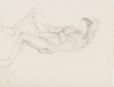 Untitled (Reclining Male Nude)