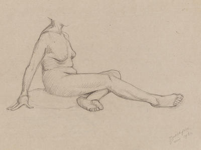 Untitled (Seated Female Nude and Legs and Torso)