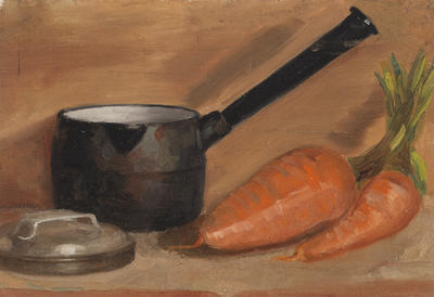 Still Life with Pots and Carrots