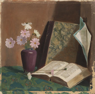 Still Life with Pink Daisies