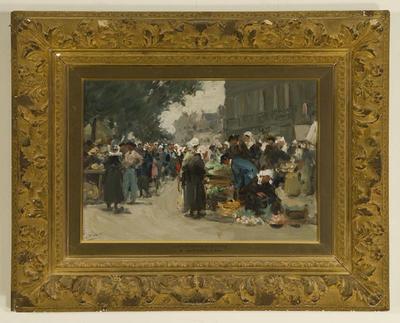 Albert Ludovici; Fruit Market in Brittany; Circa 1900; 1913/1/1