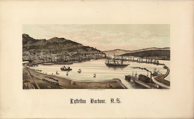 Lyttelton Harbour, N.Z. after: E. Wheeler & Son (photo)