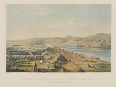 William Mein Smith; Day & Haghe; Town of Petre on the Wanganui River; Circa 1910; Circa 1841; 1918/3/1