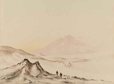 Edward Wilson; Mount Erebus from Hut Point, March 1911.; 1911; 1957/4/7